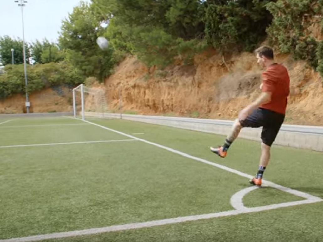 El mejor del mundo: Messi se atrevió a otro insólito desafío