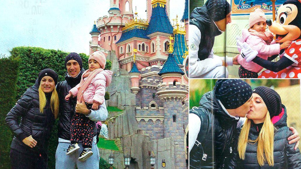 Ángel Di María y su familia, de vacaciones en Eurodisney