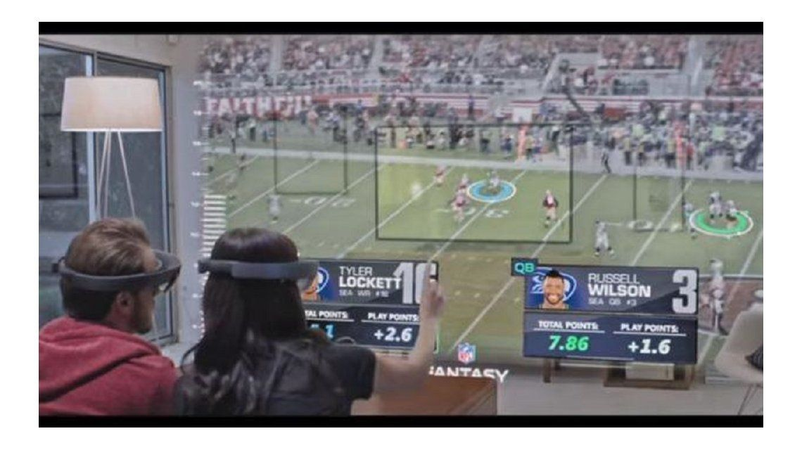 Microsoft muestra en un video cómo serán los partidos en el futuro
