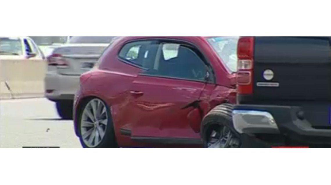 Choque múltiple en la autopista Riccheri: hay siete heridos