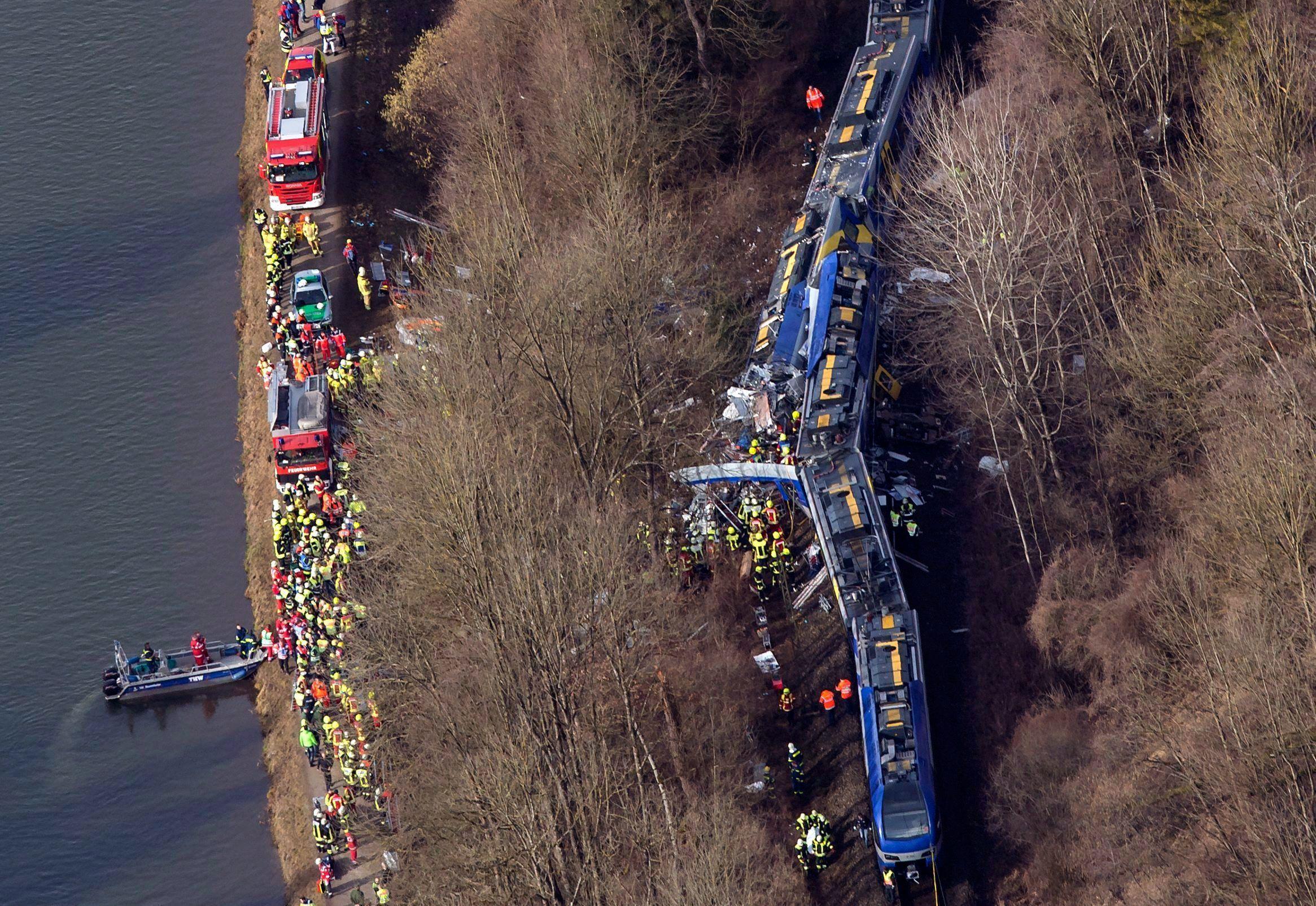 La tragedia ferroviaria de Alemania, en imágenes