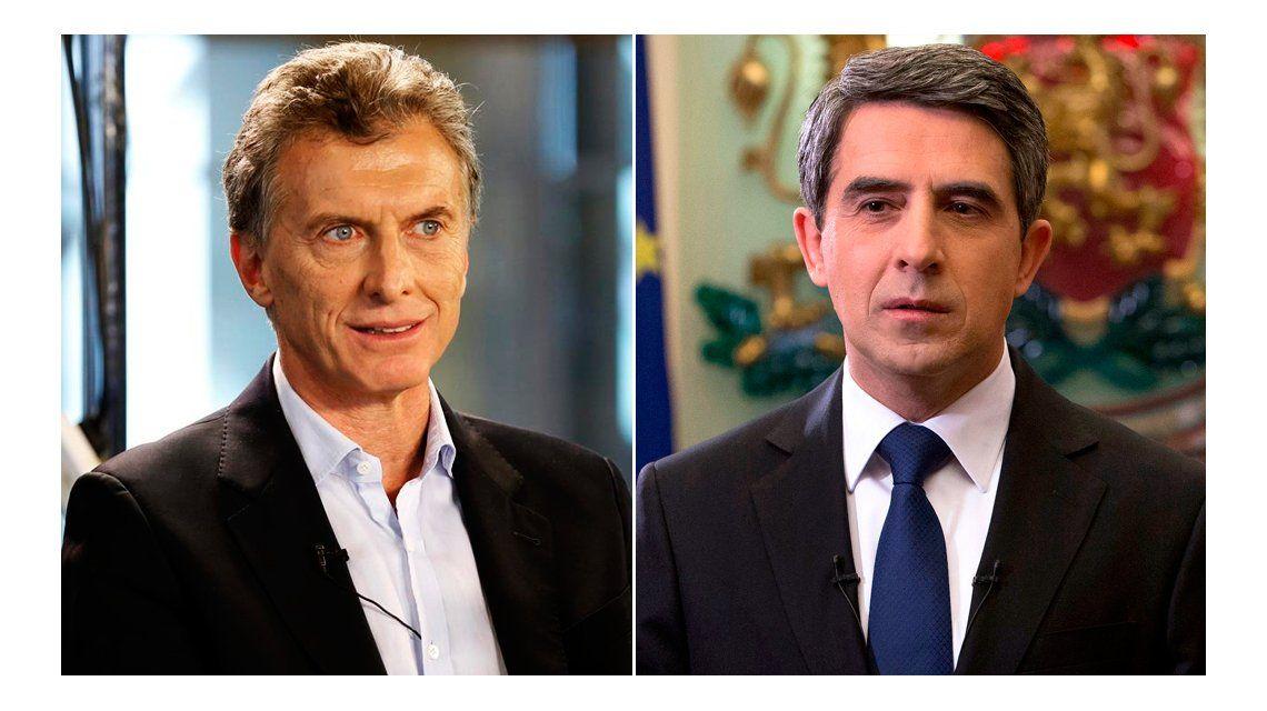 Macri recibe a su par de Bulgaria en Casa Rosada