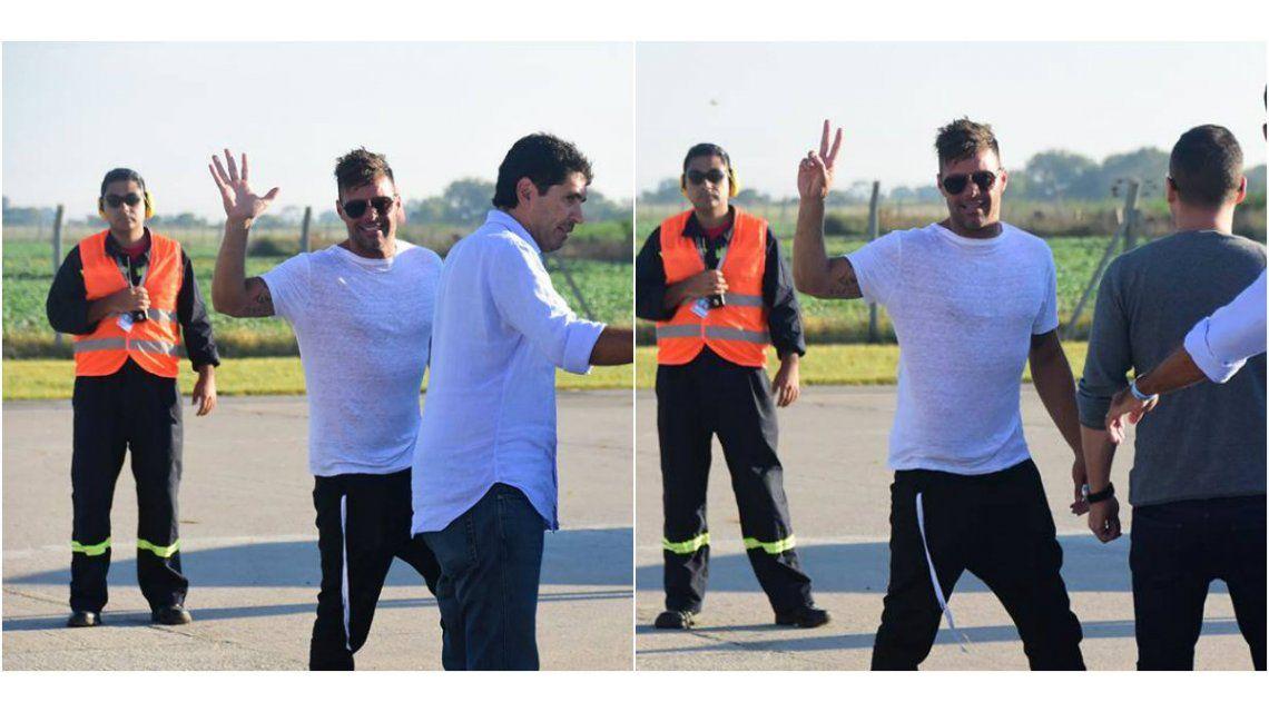 Ricky Martin ya llegó al país para presentarse en Villa María