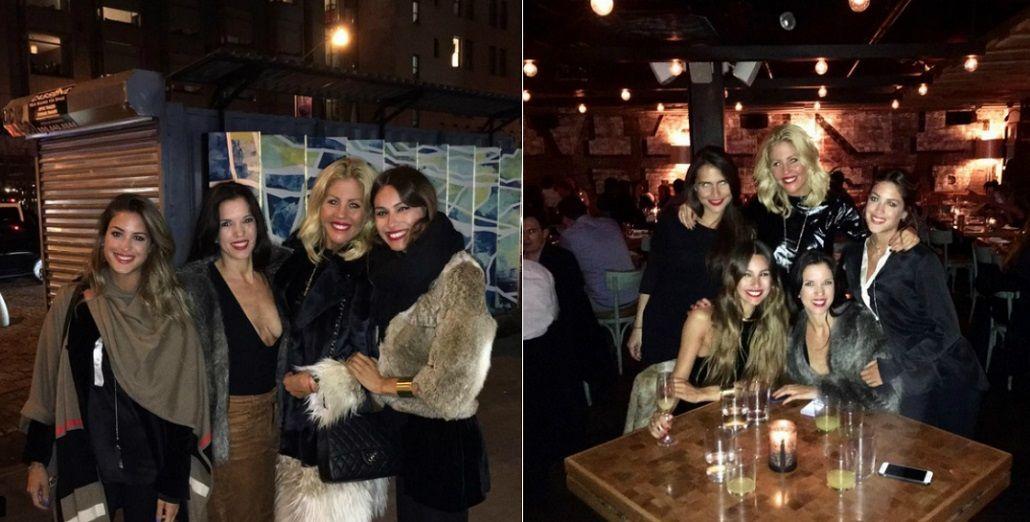 Pampita viajó con amigas a Nueva York para festejar el cumpleaños de Barbie Simons