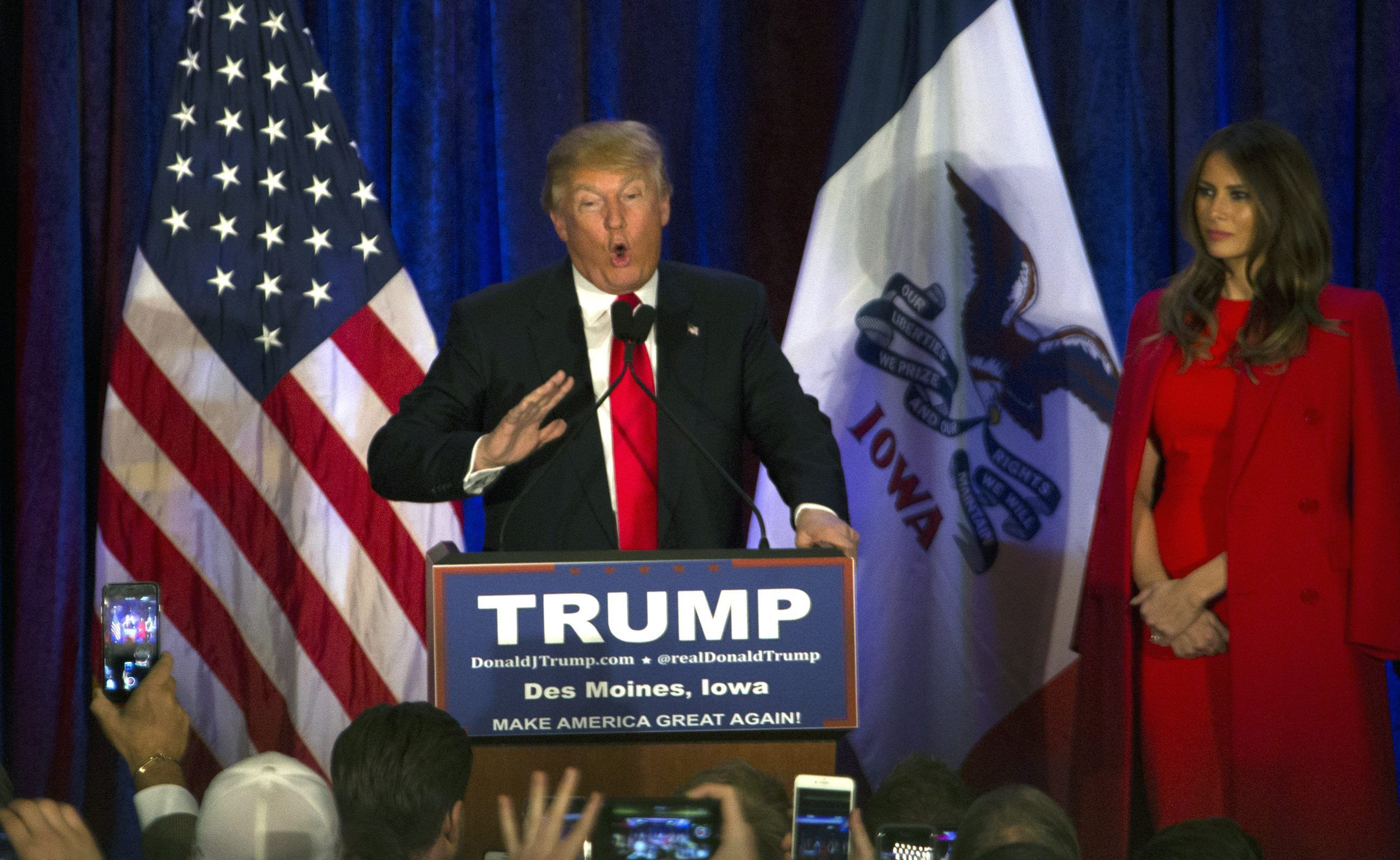 Donald Trump denunció fraude tras perder contra Ted Cruz en Iowa
