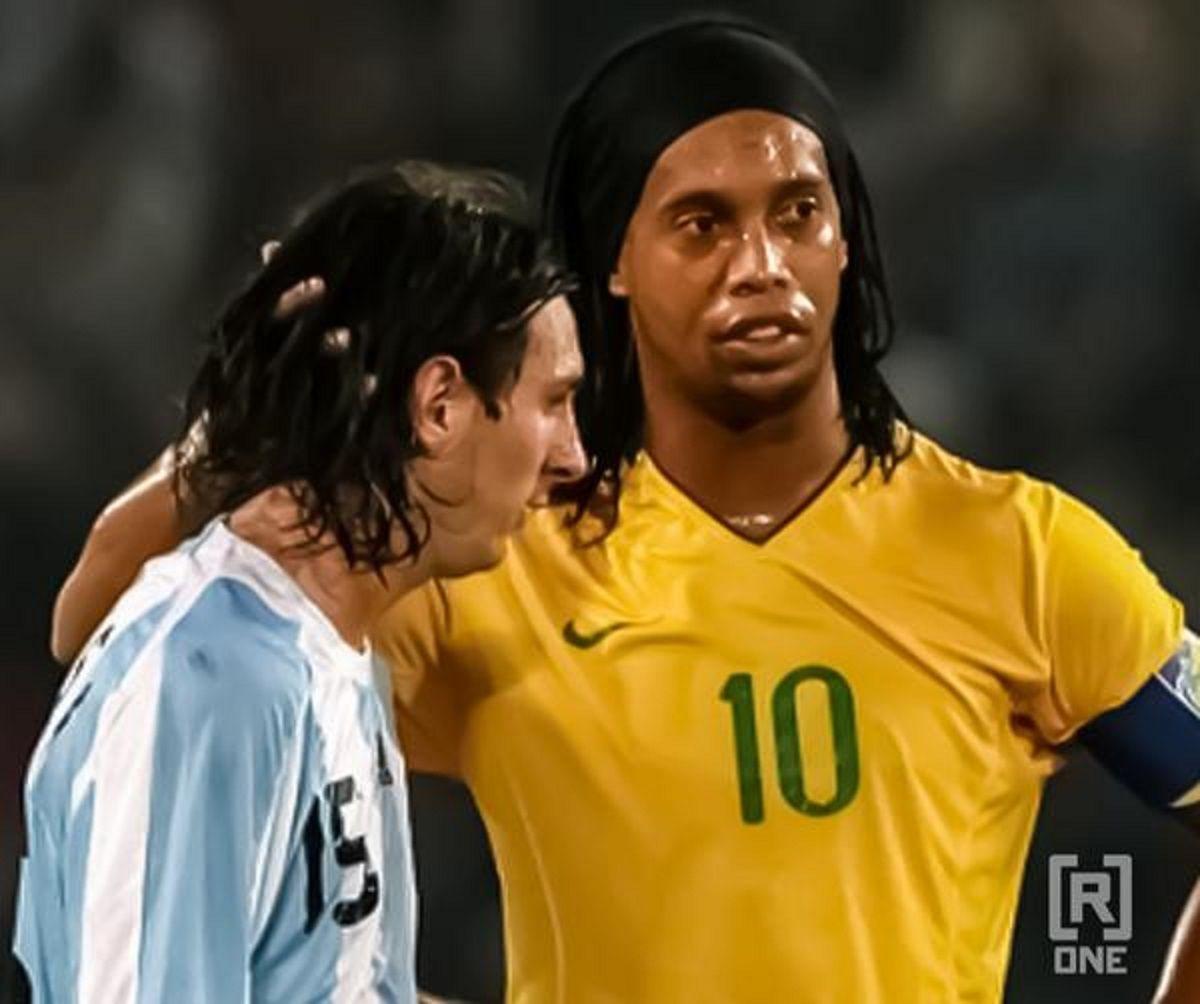 Ronaldinho: Después de mí, el mejor que he visto fue Messi