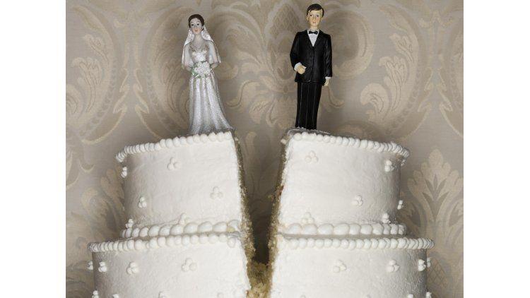 La pareja no se había divorciado