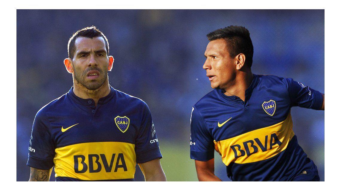 Tevez y Chávez conformarán la dupla ofensiva de Boca ante Temperley