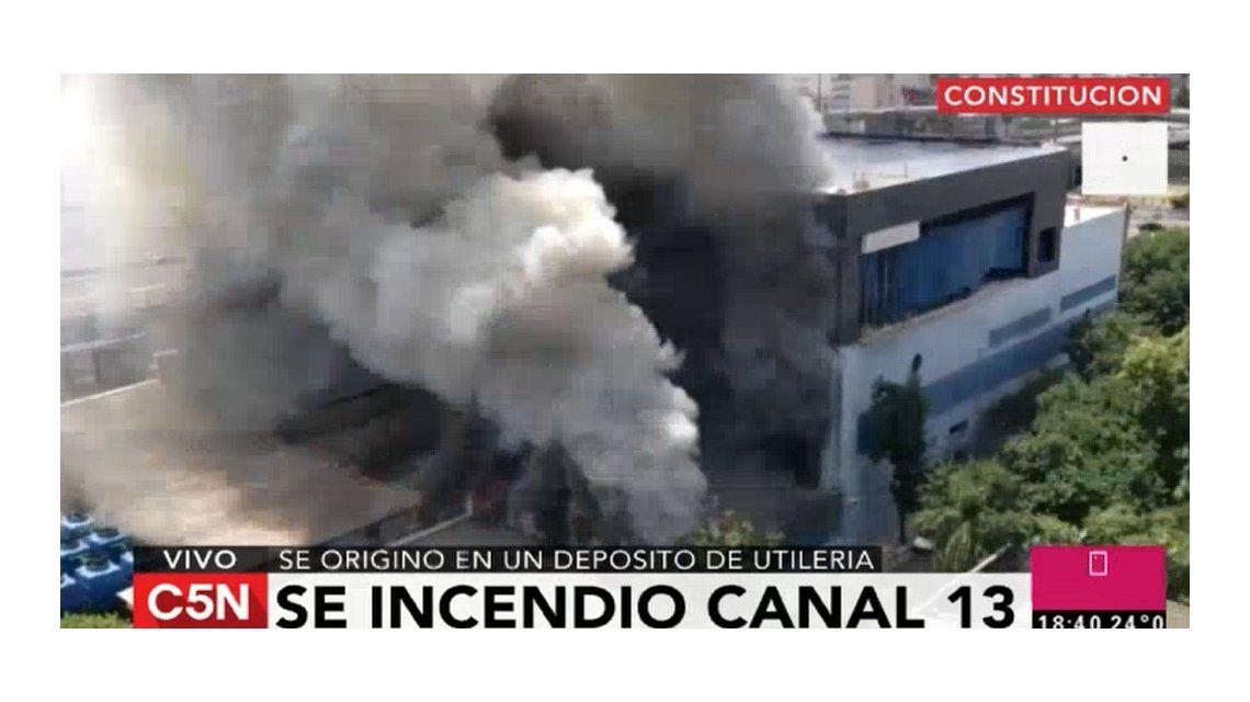 El Gobierno también descartó un sabotaje en el incendio de Canal 13 y TN