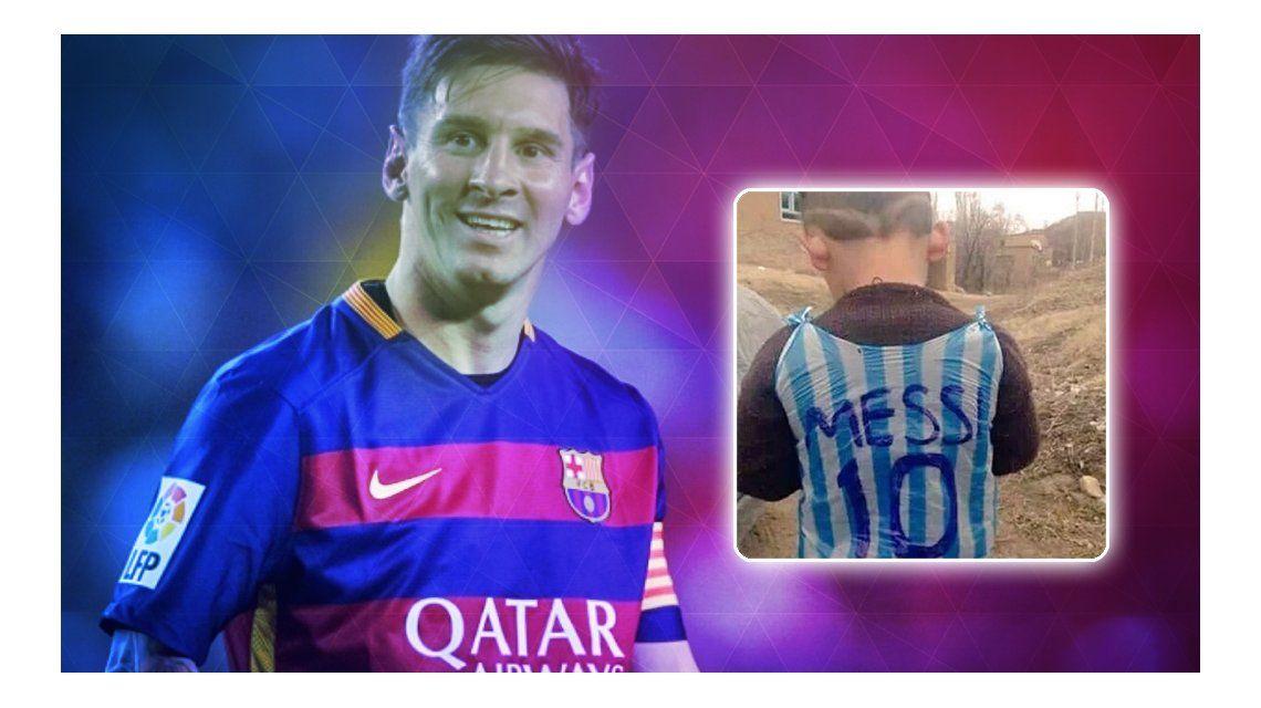 El sueño del pibe: Messi recibirá al niño afgano que lo homenajeó con una particular camiseta