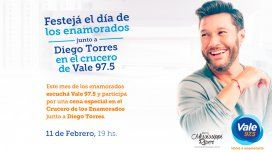 Festejá el Día de los Enamorados en un crucero con Vale 97.5 y Diego Torres