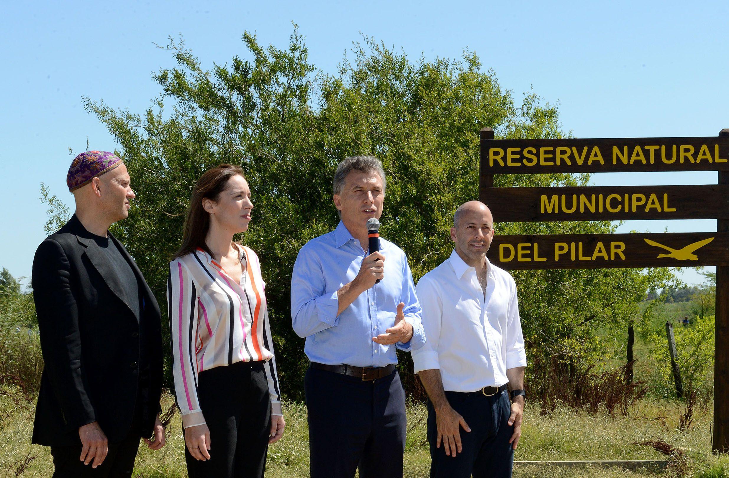 En Pilar, Macri anunció medidas para proteger el medio ambiente