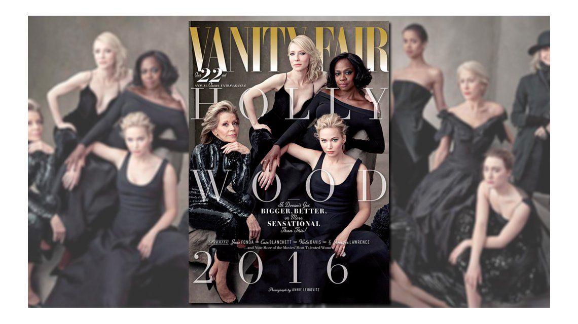 La tapa de la revista Vanity Fair, contra el supuesto racismo de los Oscar