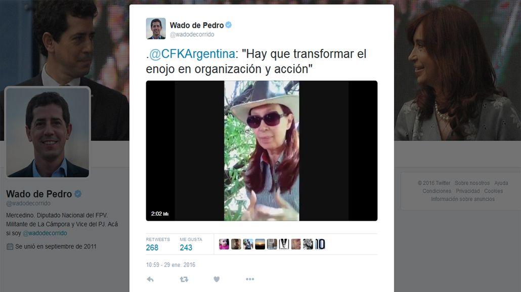 CFK: No hay que estar enojado, hay que estar preparado y organizado