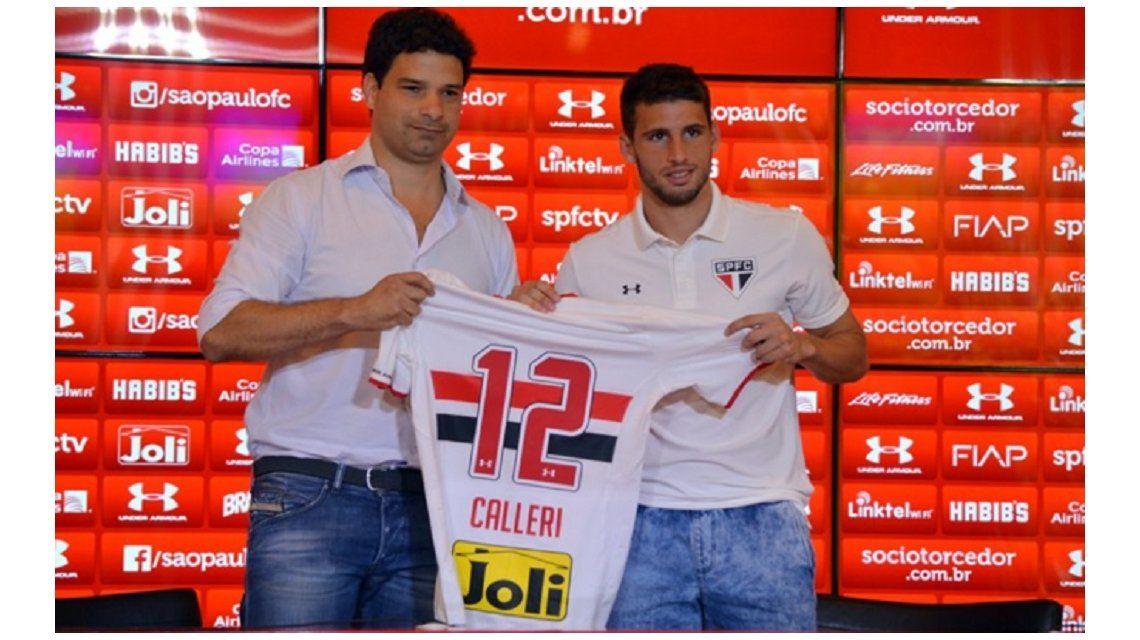 Calleri usará en el San Pablo una camiseta en homenaje a los hinchas de Boca