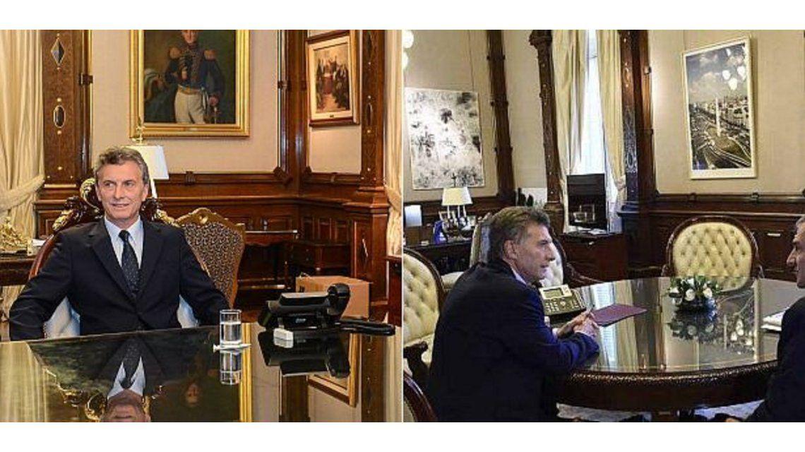 Asesorado por su esposa, Macri cambió los cuadros del despacho presidencial