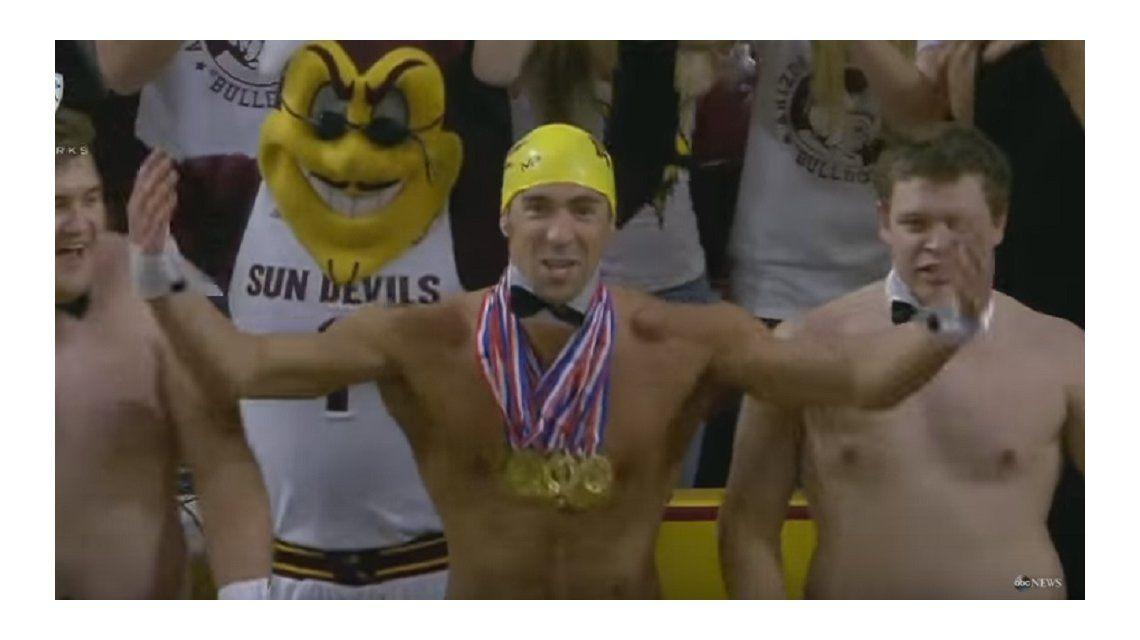 Quisieron distraer a sus rivales y para ello trajeron ¡a Michael Phelps!