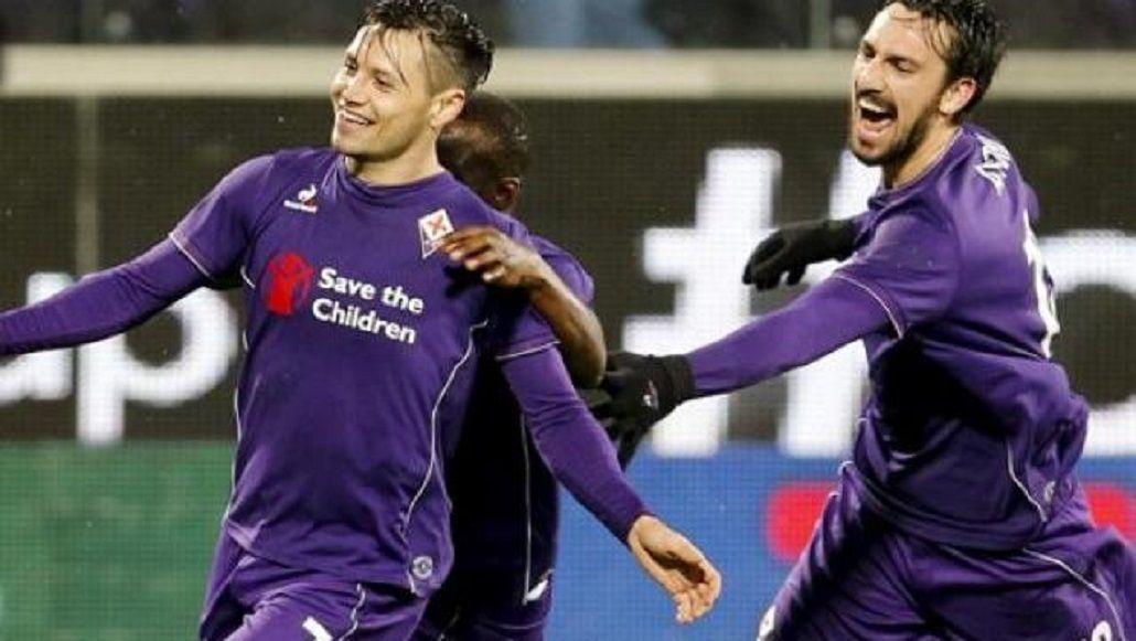El golazo de Mauro Zárate para la Fiorentina que valió tres puntos