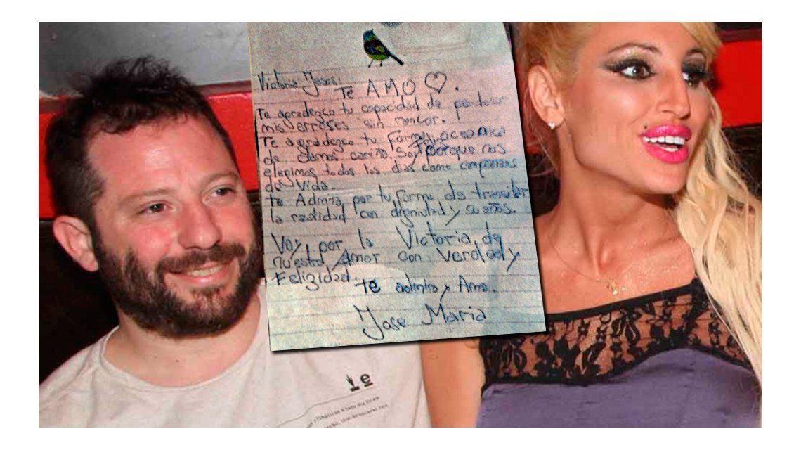 La romántica carta de José Ottavis a Vicky Xipolitakis