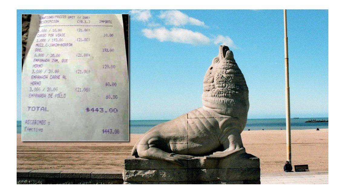 Con un ticket, un turista escrachó a un comercio por sus precios