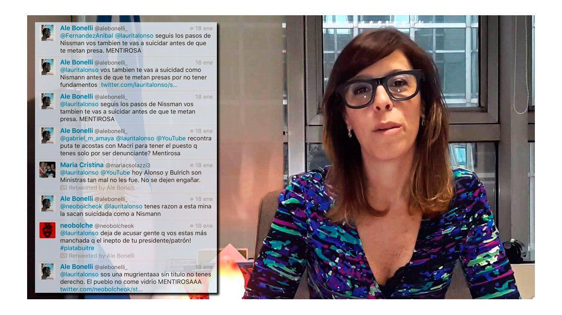 Laura Alonso denunció amenazas de muerte vía Twitter