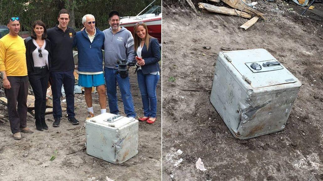 Descubren una caja fuerte durante demolición de antigua mansión de Pablo Escobar