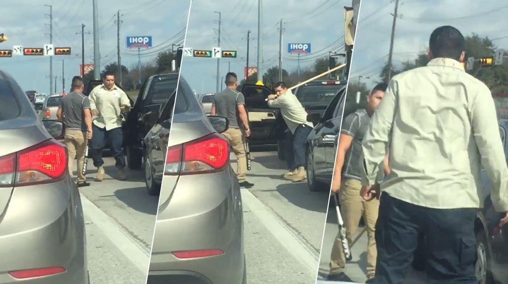 Dos conductores se trenzaron a palazo limpio en una autopista de Texas
