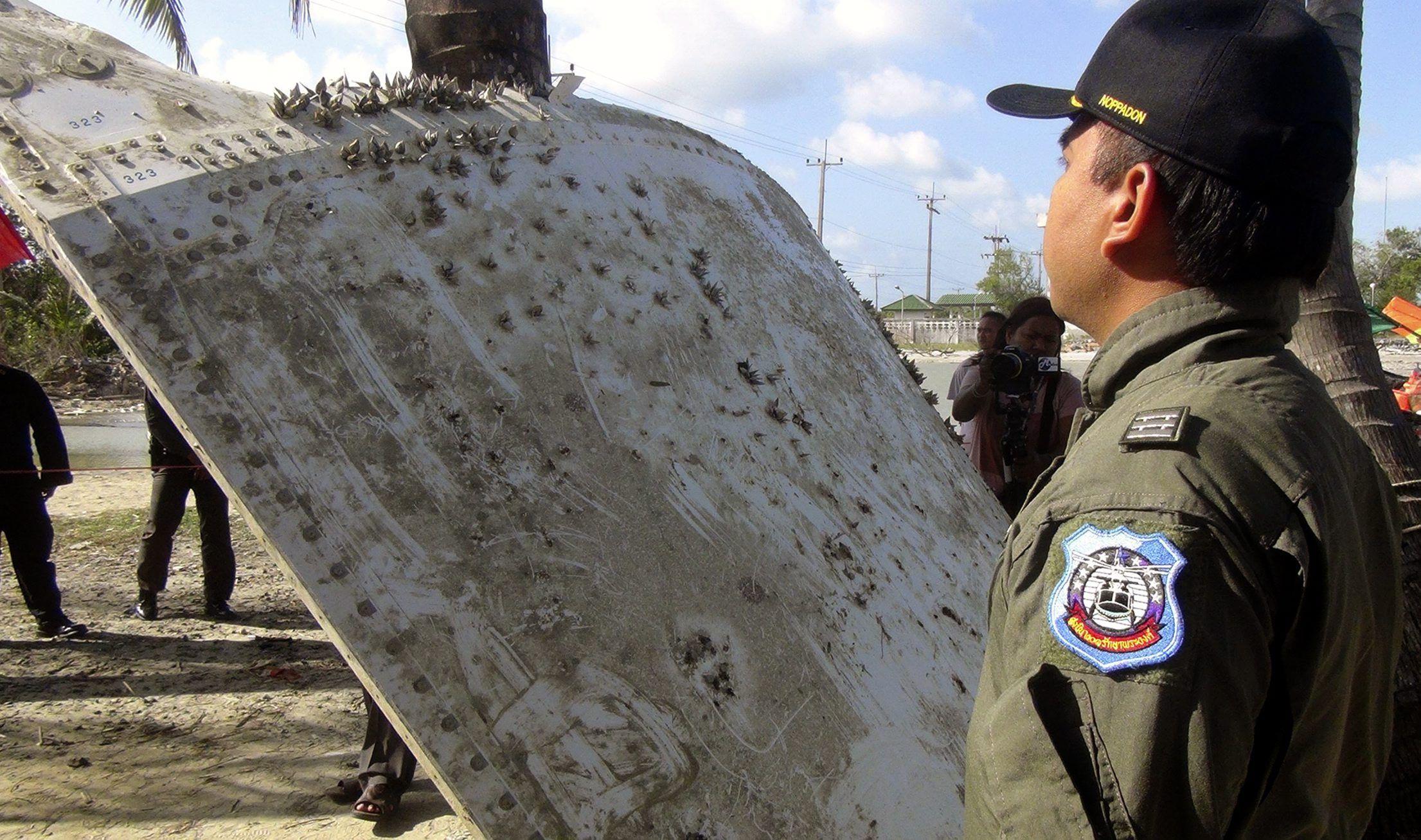Las autoridades de Tailandia creen que encontraron un pedazo del vuelo MH370