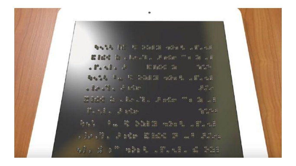 Desarrollaron un sistema para leer braille en smartphones