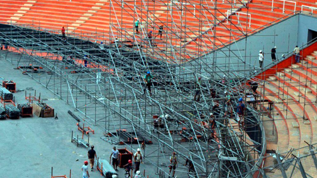 Arrancó el armado del escenario para los Stones en el Estadio Único