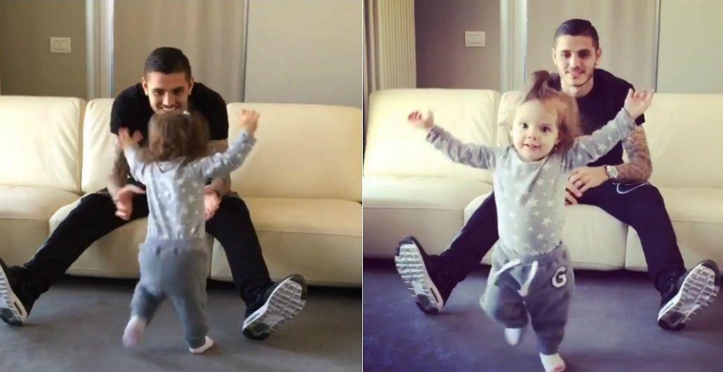 VIDEOS: La hija de Wanda Nara y Mauro Icardi comenzó a caminar