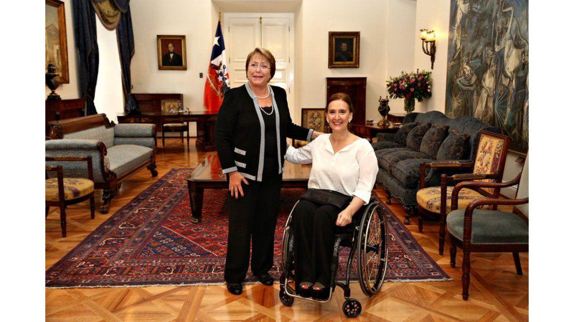 Michetti se reunió en Chile con Bachelet