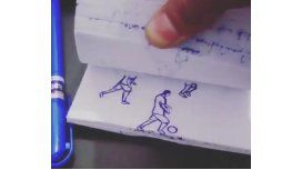 Imperdible: uno de los mejores goles de Messi, recreado con una birome