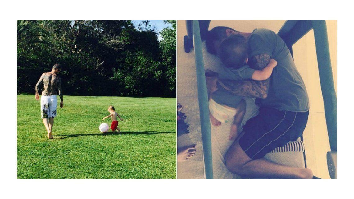 Marcelo y Lolo Tinelli, inseparables: tardes de fútbol ¡y colecho en la cuna!