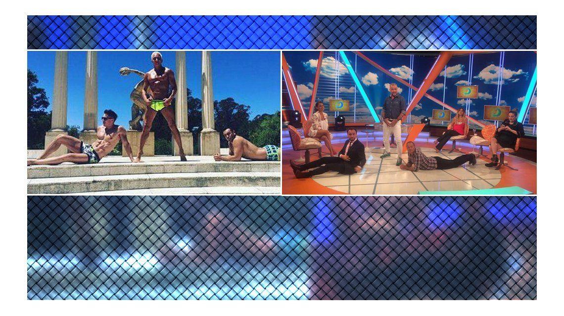 Los Intrusos imitaron una foto hot de Flavio Mendoza