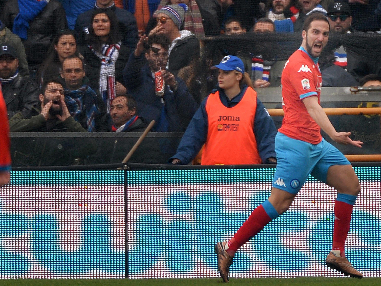 No hay quien lo pare: otro gol de Higuaín para el Nápoli puntero