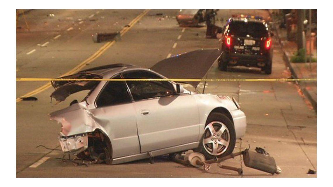 Un joven murió al partirse su auto en dos, pero su acompañante salió ileso