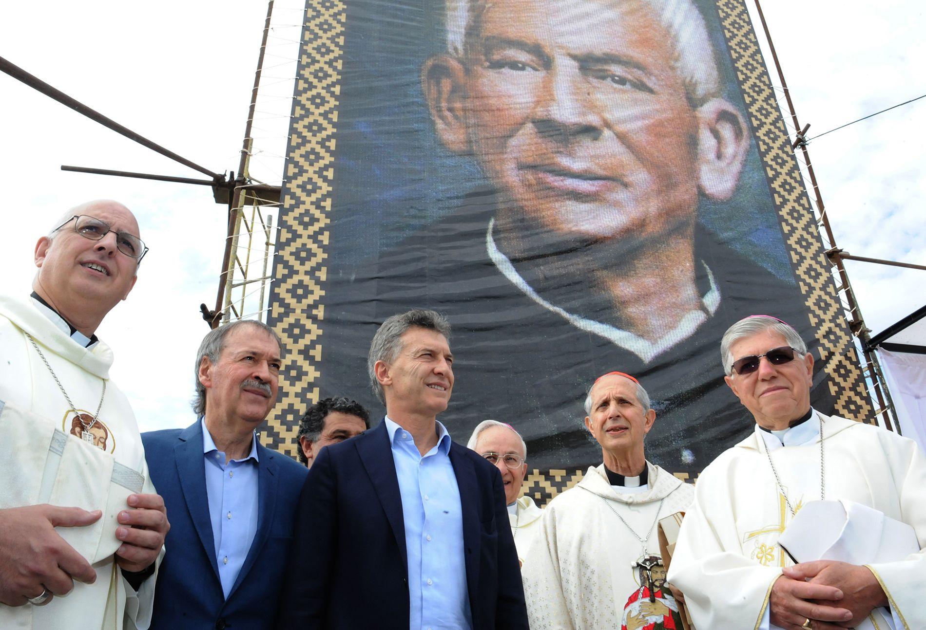 Macri asistió a una misa en homenaje al Cura Brochero en Córdoba