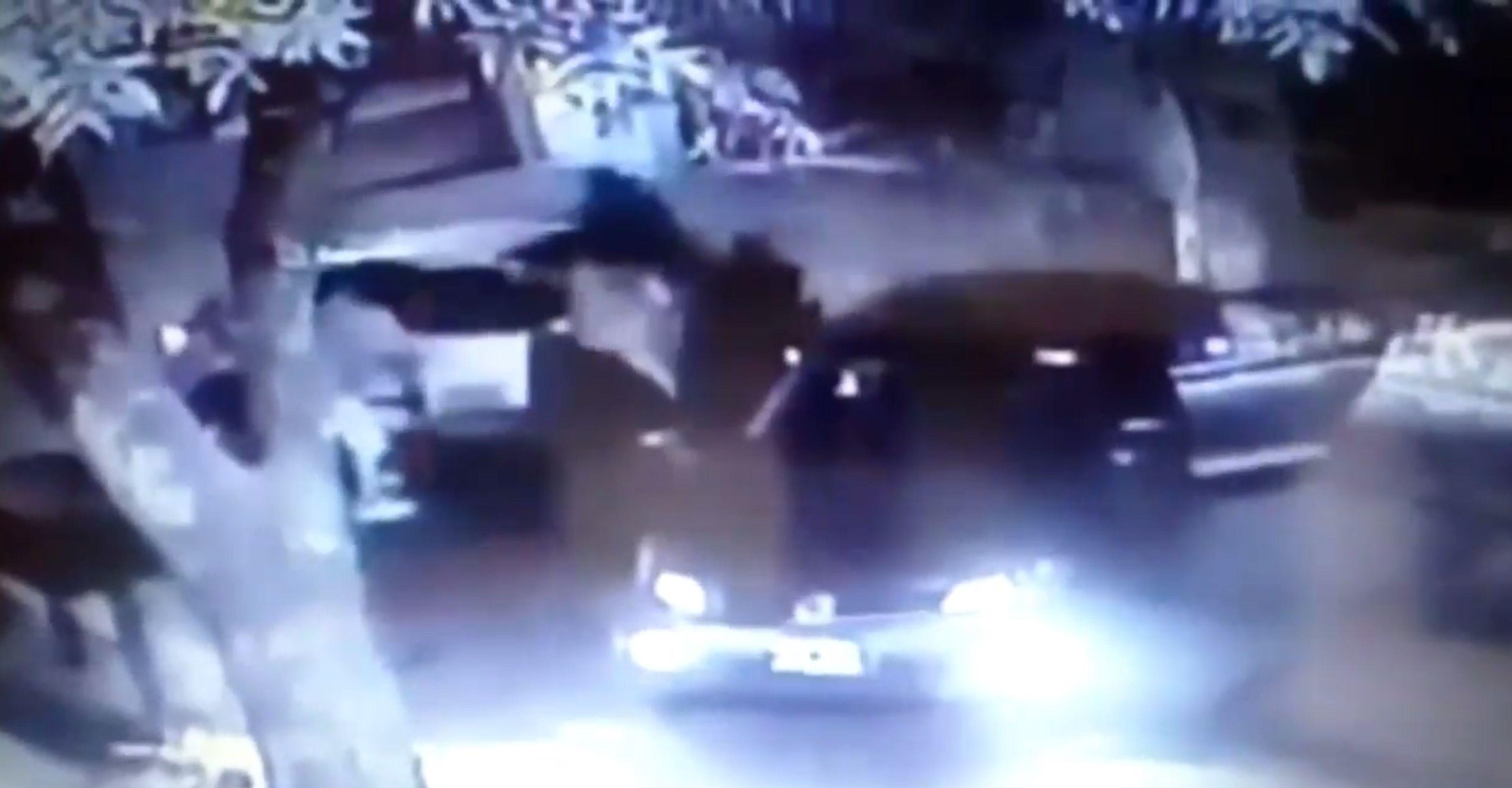 VIDEO: Así fue el dramático robo de su auto que sufrió el presidente de Temperley