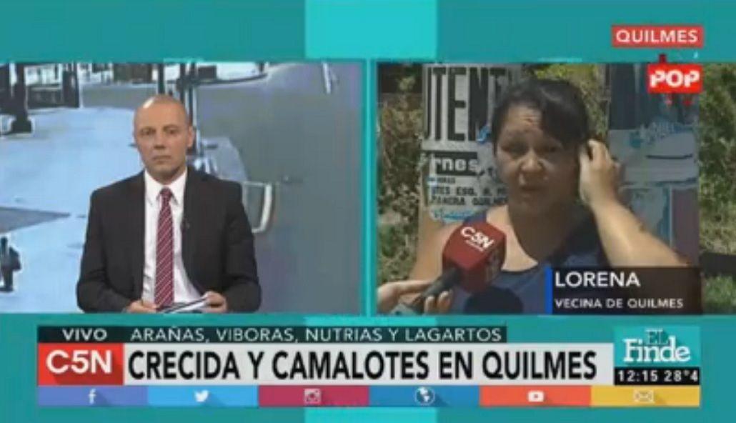 Creció el río de la Plata y aparecieron camalotes en un barrio de Quilmes