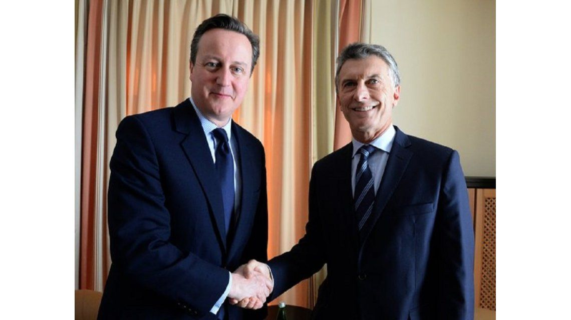Macri, tras el encuentro con David Cameron: Fue una linda reunión
