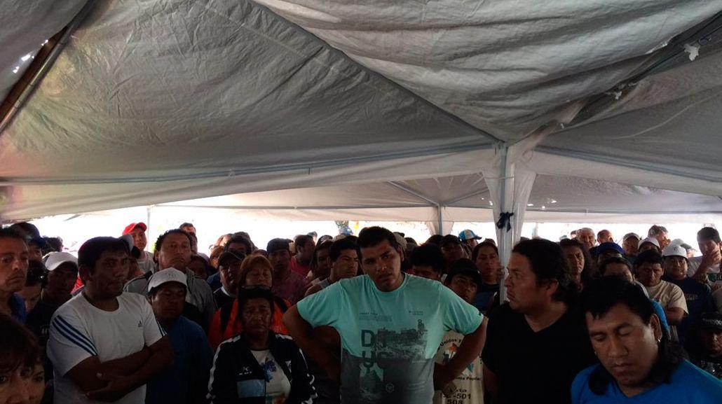 Militantes de Tupac Amaru resisten con el acampe y sólo ofrecen liberar calles