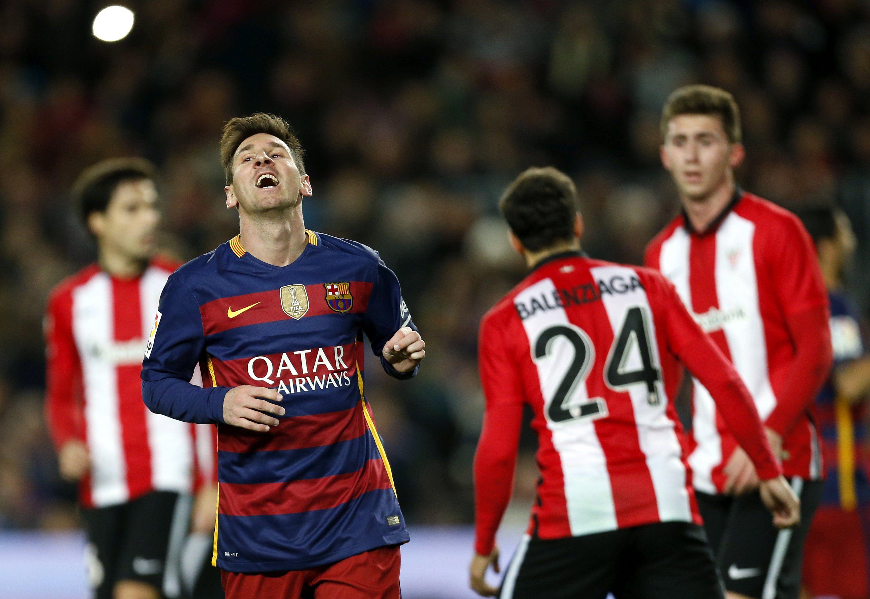 Sin Messi ni Suárez, Barcelona se mide ante Bilbao en la ida de cuartos