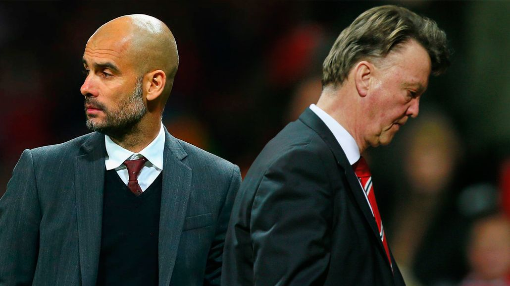 A espaldas de Van Gaal, Guardiola se reunió con directivos del Manchester United