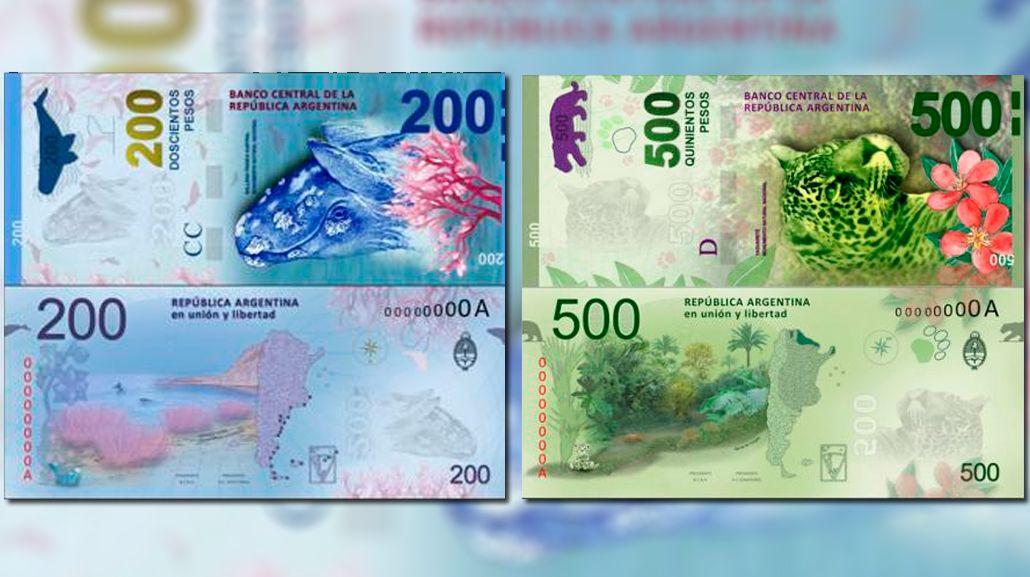Con animales: así serán los nuevos billetes a partir de mitad de año