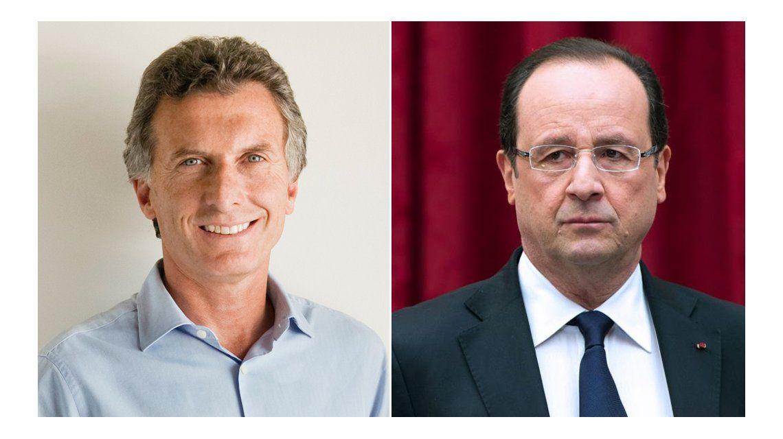 Macri ultimó en Davos los detalles de la visita de Hollande al país