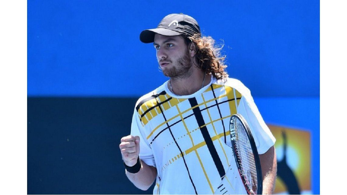 El sueño del pibe: Trungelliti ganó su primer partido en un Grand Slam