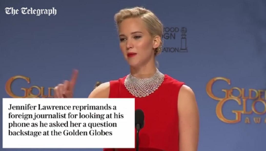 Polémico video de Jennifer Lawrence: ¿maltrato a un periodista o sólo bromas?
