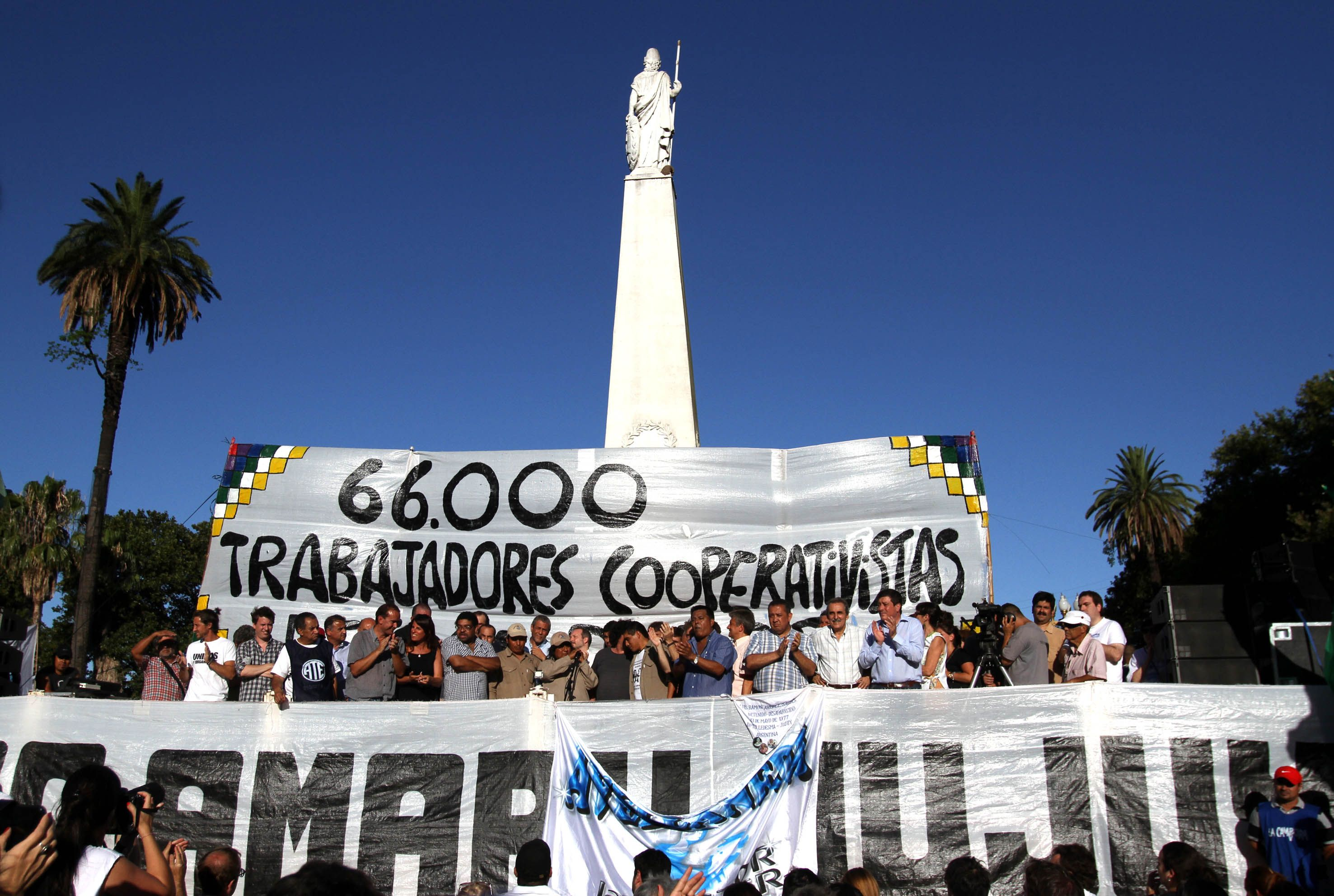 Pidieron la liberación de Milagro Sala con una manifestación en Plaza de Mayo