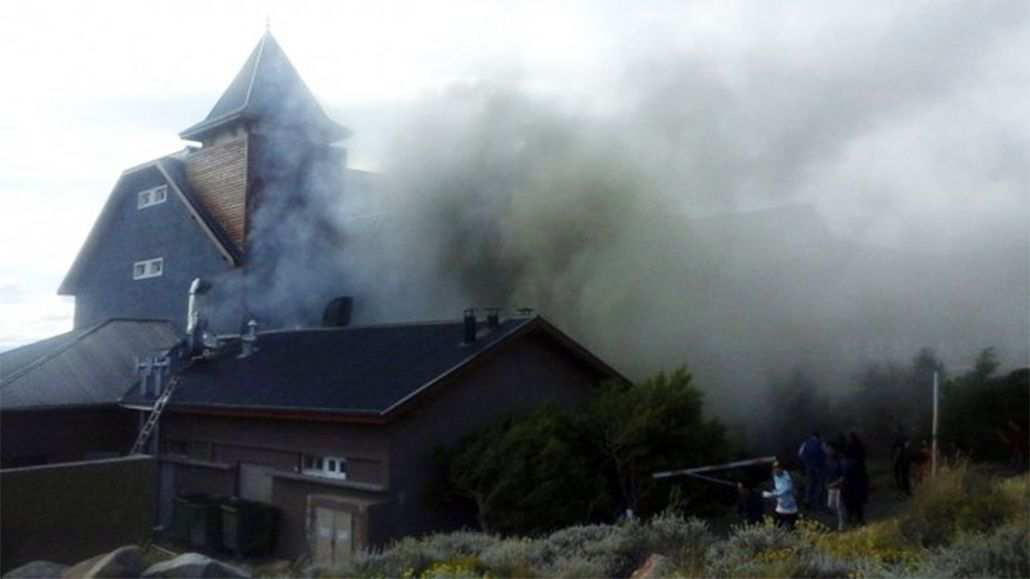 Incendio en el Hotel Alto Calafate, perteneciente a la familia Kirchner